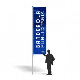 Banderola publicitaria 100 x 250 cm.