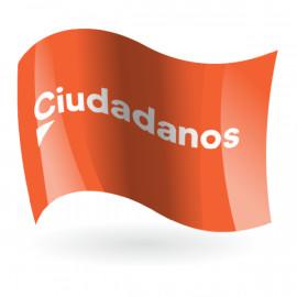 Bandera de Ciudadanos fondo naranja