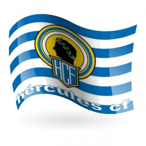 Bandera del Hércules de Alicante Club de Fútbol mod. 1