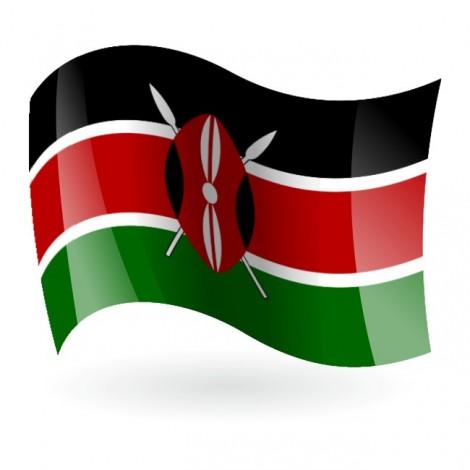 Bandera de la República de Kenia