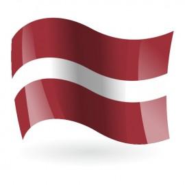Bandera de la República de Letonia