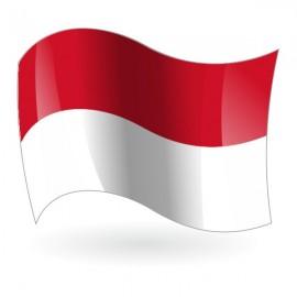 Bandera del Principado de Mónaco