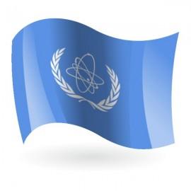 Bandera de la OIEA ( Organismo Internacional de Energía Atómica )