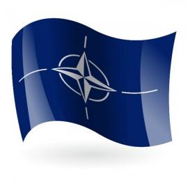 Bandera de la OTAN ( Organización del Tratado Atlántico Norte )