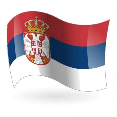 Bandera de la República de Serbia