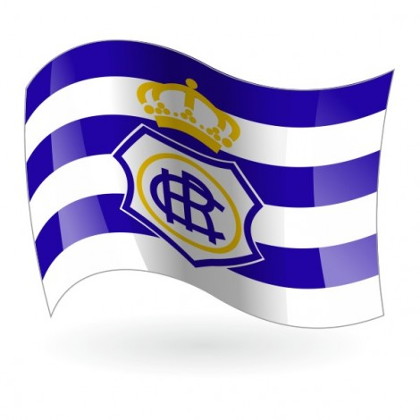 Bandera Del Real Club Recreativo De Huelva Mod 1 Banderalia Com