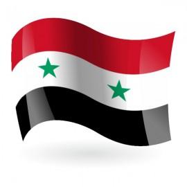 Bandera de la República Árabe Siria