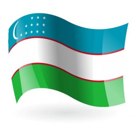 Bandera de la República de Uzbekistán