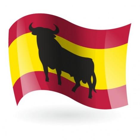 Bandera de España con toro mod. 1