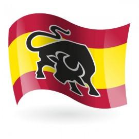 Bandera de España con toro mod. 2