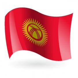 Bandera de Kirguistán ( República Kirguisa )