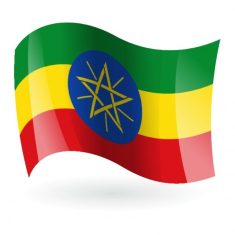 Bandera de Etiopía ( República Democrática Federal de )