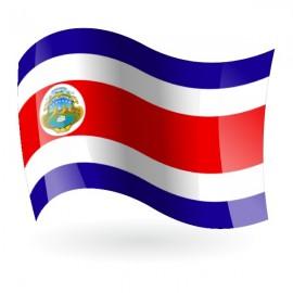 Bandera de la República de Costa Rica c/e