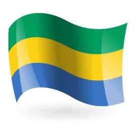 Bandera de Gabón ( República Gabonesa )