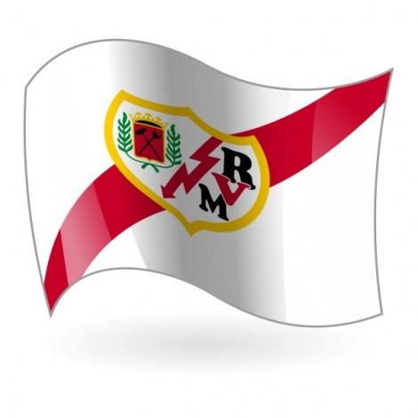 Bandera del Rayo Vallecano de Madrid mod. 1