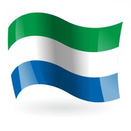 Bandera de la República de Sierra Leona