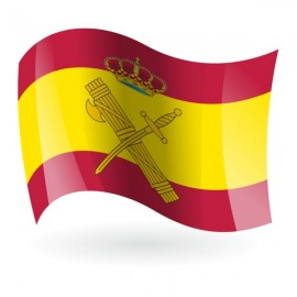 Bandera de España Guardia Civil