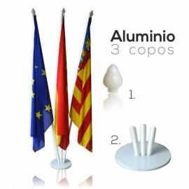 Mástil Aluminio 3 copos